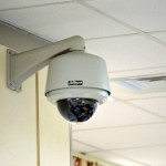 Office Security Camera on Wall
